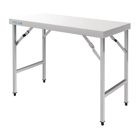 vogue cb stainless steel folding tables cas