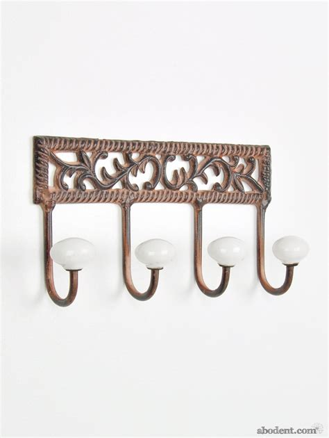 Decorative Coat Rack by Decorative White Metal Coat Rack White Floral Metal Coat