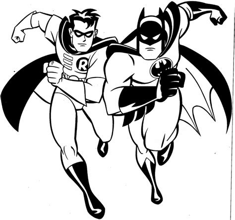 coloring page robin free printable batman coloring pages for