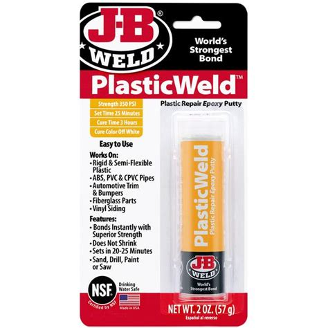 Acrylic Epoxy plasticweld epoxy putty j b weld