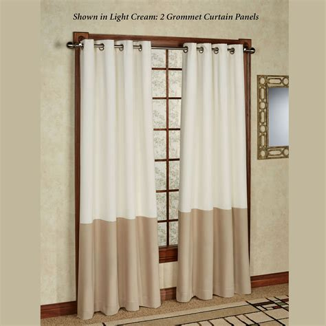 Curtain Panels Kendallin Color Block Grommet Curtain Panels