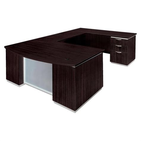 Assembled Office Desks Flexsteel Pimlico Laminate Executive Rhf U Shaped Desk Assembled 7020 57b