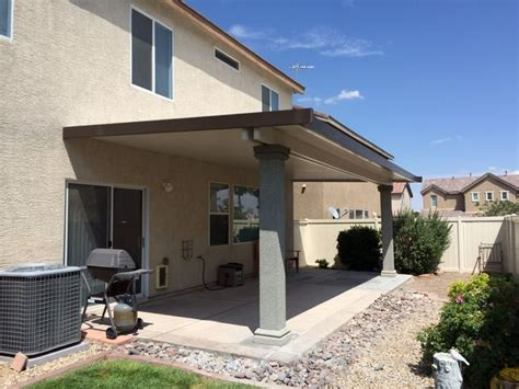 Here's an insulated patio cover with stucco columns. The