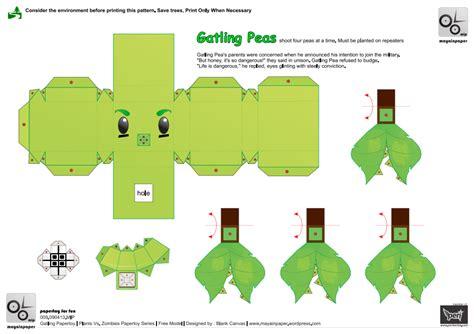 Plants Vs Zombies Paper Crafts - pvz plants papercraft images