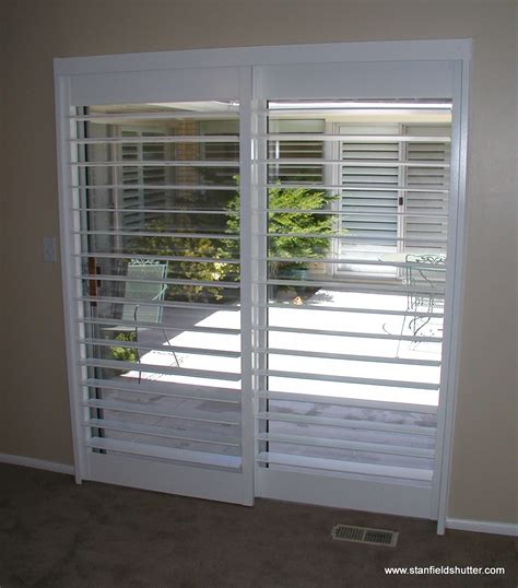 Shutters For Patio Doors Stanfield Shutter Co Gallery