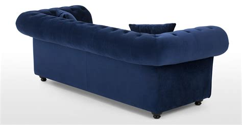 Branagh 2 Seater Chesterfield Sofa Electric Blue Velvet Blue Velvet Chesterfield Sofa