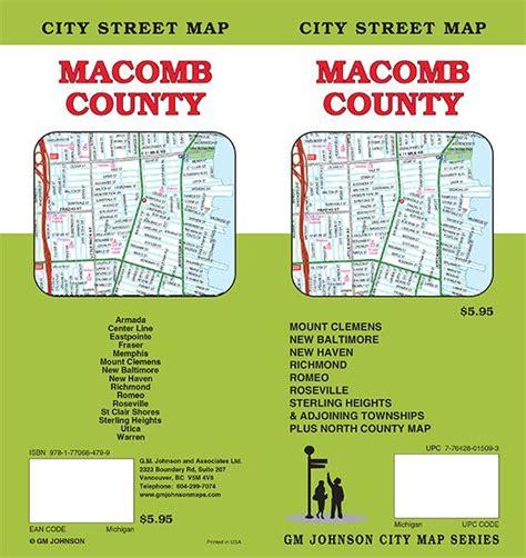 Macomb County Search Macomb County Michigan Map Gm Johnson Maps