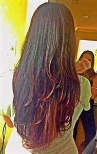 back of hairstyle cut with layers and ushape cut in back long v layers back hair pinterest hair with layers