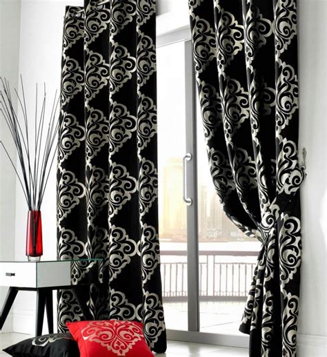 black design curtains white and black curtains for living room homedesignwiki