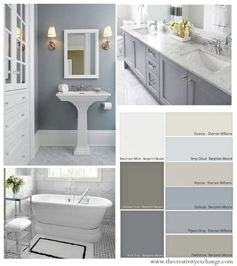 gray painted bathroom cabinets bathroom color schemes on pinterest balinese bathroom