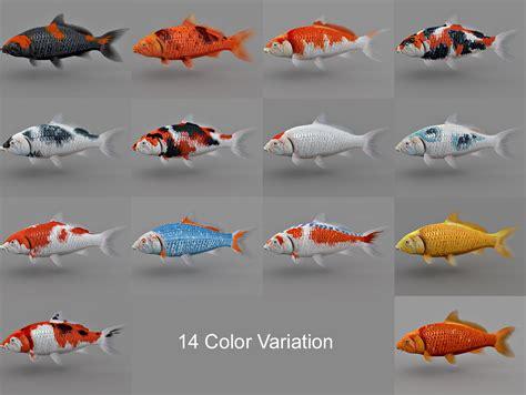 koi fish colors koi fish collection 3d model