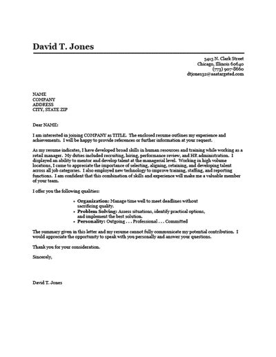 Change Career Cover Letter – Sample Cover Letter: How To Write A Cover Letter