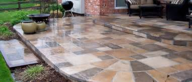 Laying Patio Slabs On Concrete by Concrete Slab Patio With Pavers Images