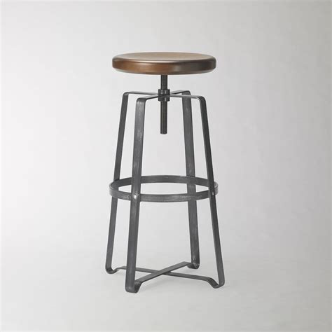 Adjustable Stool by Adjustable Industrial Stool West Elm Uk