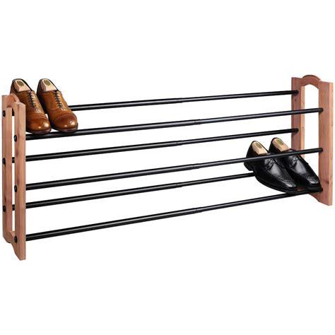 expanding shoe rack cedar in shoe racks
