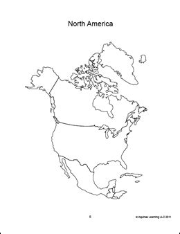 coloring page map of north america geography the americas and the 50 us states