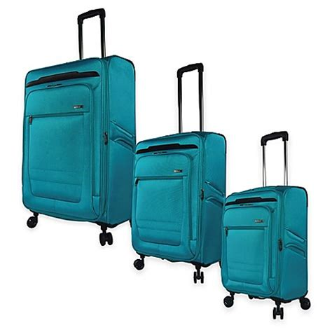 luggage bed bath and beyond travelers club 174 voyager spinner luggage collection bed