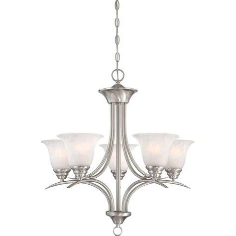 Filament Lighting Fixtures Filament Design Lenor 5 Light Brushed Nickel Incandescent Ceiling Chandelier V5245 33 The Home