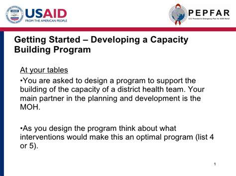 capacity building plan template capacity building u nder pepfar ii cobranded