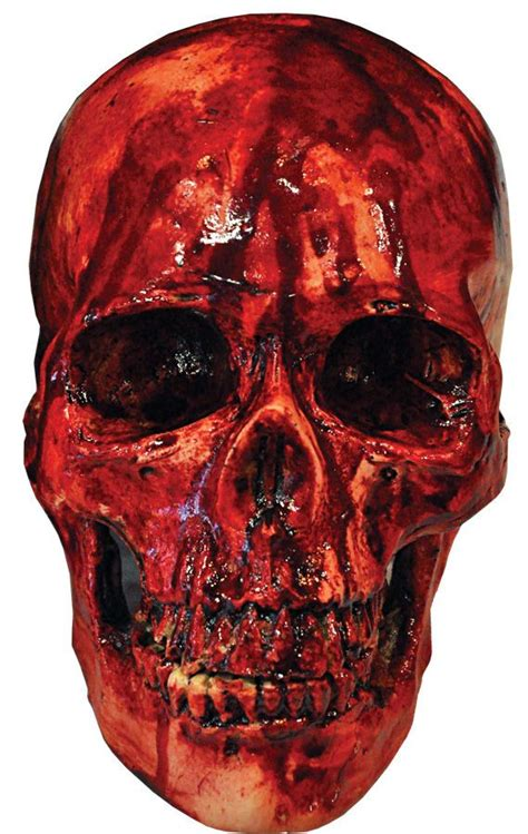 Skull Blood decoration resin bloody skull prop haunted