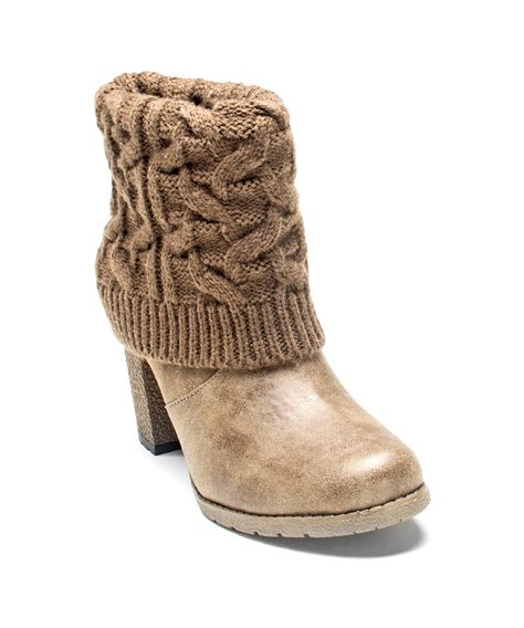 s water boots muk luks s chris sweater boot in brown lyst