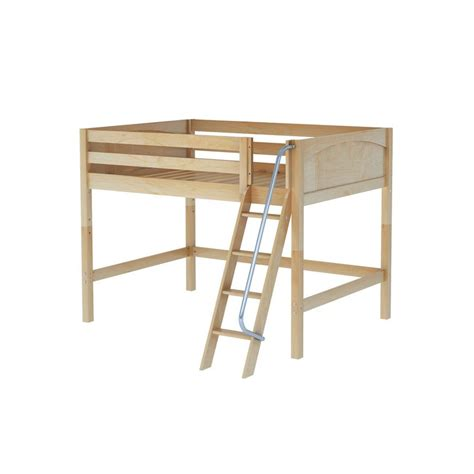 mid loft bed maxtrixkids kong np mid loft bed with angled ladder