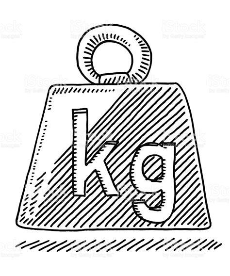 zeichen symbol kilogramm gewicht vektor illustration