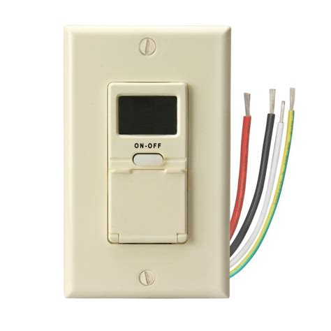 bathroom fan timer switch home depot woods programmable timer switch light almond 59028 the