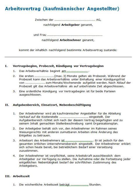 Muster Vertrag Schweiz Arbeitsvertrag Unbefristet Muster Nach Schweizer Recht Zum