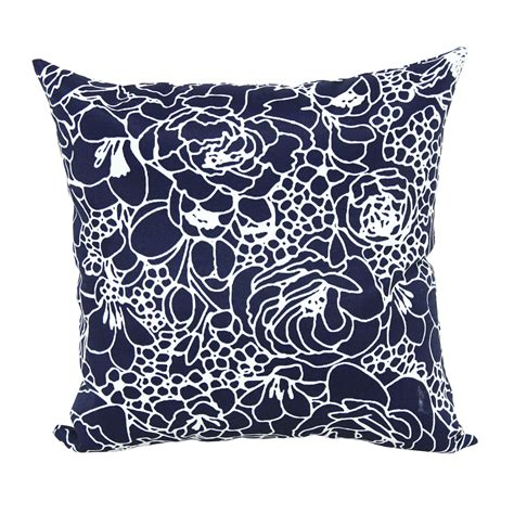 Outdoor Pillows Lowes by Shop Garden Treasures Blue Uv Protected Square Outdoor
