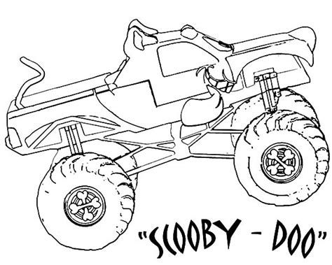 bigfoot monster truck coloring pages monster truck coloring pages coloring page