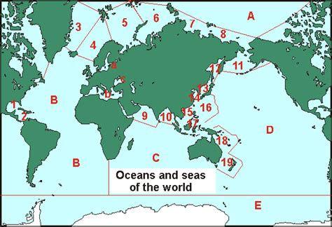 world map with rivers seas and oceans oceanography oceans