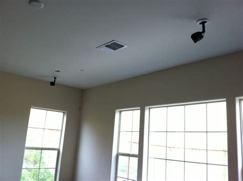 ceiling wall speakers lifestyle satellite speaker installation in dublin ca