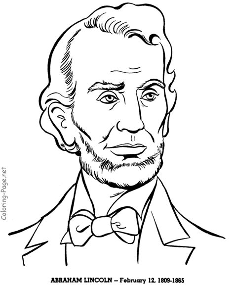 abraham lincoln us president coloring pages