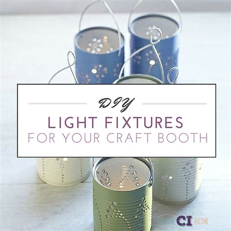 craft booth lighting diy light fixtures for your craft booth creative income
