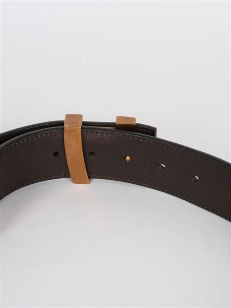 louis vuitton lv initiales brown utah leather belt 85