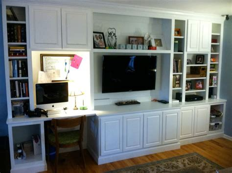Desk Entertainment Center by Built In Entertainment Center With Desk Built Ins For