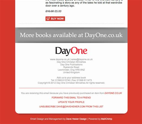 Dave Hewer Design Email Broadcast System Email Broadcast Template