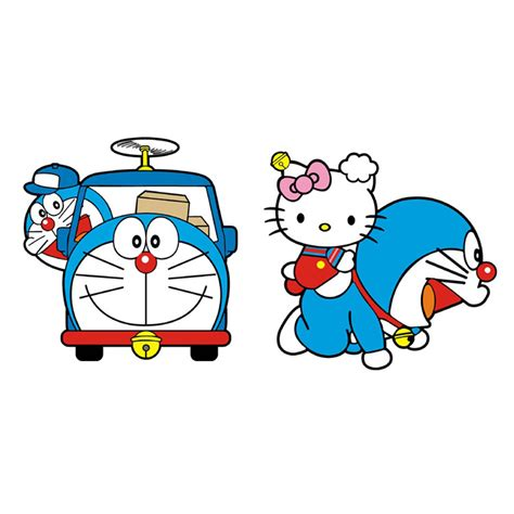 Steples Hello Doraemon 1 car styling doraemon and hello car sticker decal for mercedes smart fortwo