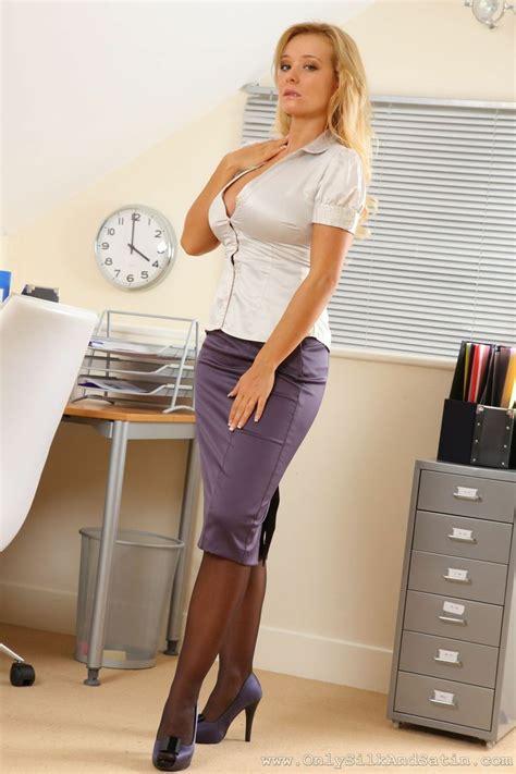 purple satin pencil skirt white satin blouse sheer black