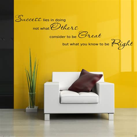 office wall art success office wall art sticker hall lounge quote decal mural stencil transfer ebay