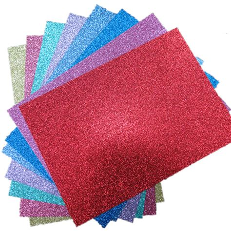Glitter Paper For Card - a4 soft touch glitter paper many colours scrapbooking card