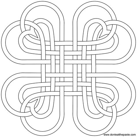 don t eat the paste heart knot coloring page and