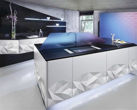 Design For Futuristic Kitchen Ideas Futuristic Kitchen Design Inspired By Origami Digsdigs