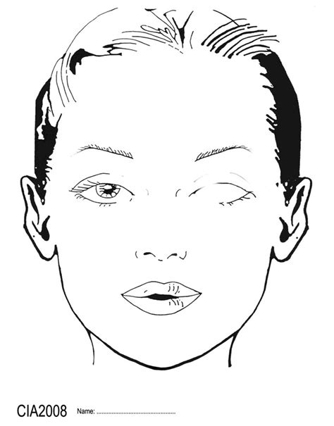 makeup face charts