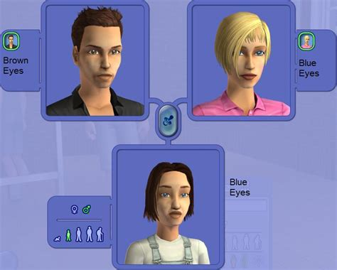 around the sims 2 downloads genetics hair mod the sims modified eye color genetics