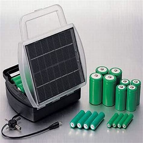 solar power battery charger solar powered battery charger envirogadget