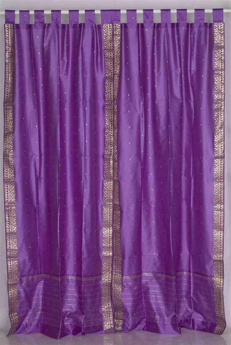 tab top sheer curtain panels lavender tab top sheer sari curtain drape panel