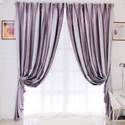 grey and purple stripe curtains are presented in modern style