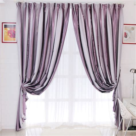 Grey And Purple Curtains Kitchen And Striped Curtains On Curtainsmarket